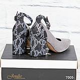 Шикарные туфли на каблуке на ремешке, фото 2