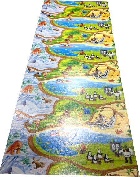 Дитячий ігровий килимок для повзання дитини «Happy Kinder» XXXL 3000х1200х8 мм