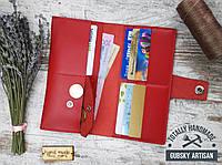 Клатч женский кошелёк чехол для телефона натуральная кожа handmade