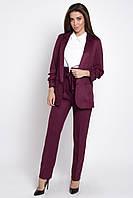 Стильный деловой женский костюм брючный  , цвет: бордовый, размер: 42, 44, 46, 48, 50