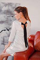 Стильное нарядное платье 2020 ц. белый р. S, M, L