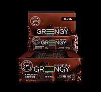 Упаковка протеиновых батончиков Greengy Шоколадный Брауни 16 шт х 40 г