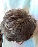 Парик кудрявый пышный из термоволос ПЬЕХА русый мелированный RG-FLORA-12Н124, фото 5