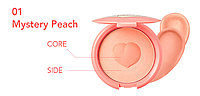 Мягкие кремовые румяна It's skin Colorable Bouncy Blusher 01. Mystery Peach, фото 1