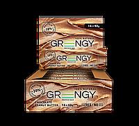 Упаковка протеиновых батончиков Greengy Шоколадное Арахисовое Масло 16 шт х 40 г
