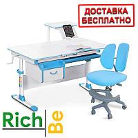 Комплект парта и стулья Evo-kids Evo-40 New