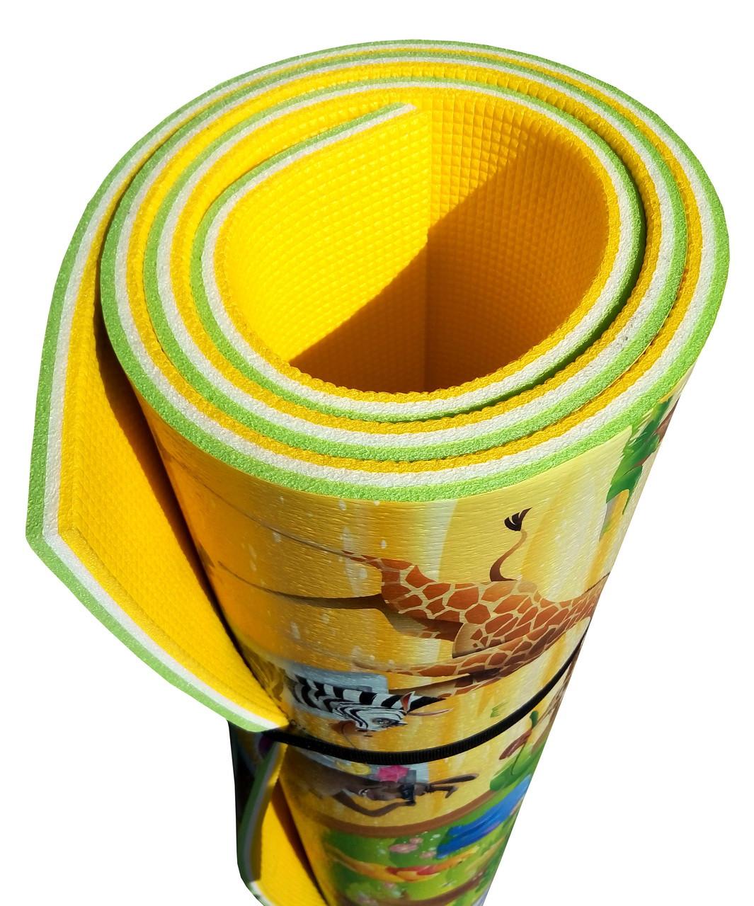Дитячий килимок для повзання дитини «Мадагаскар» PREMIUM XL 2000х1200х12 мм