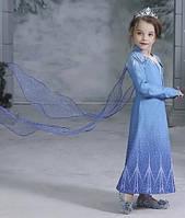 """Накидка для образа принцессы Эльзы """"Холодное сердце"""" 2020 для девочки, фото 1"""