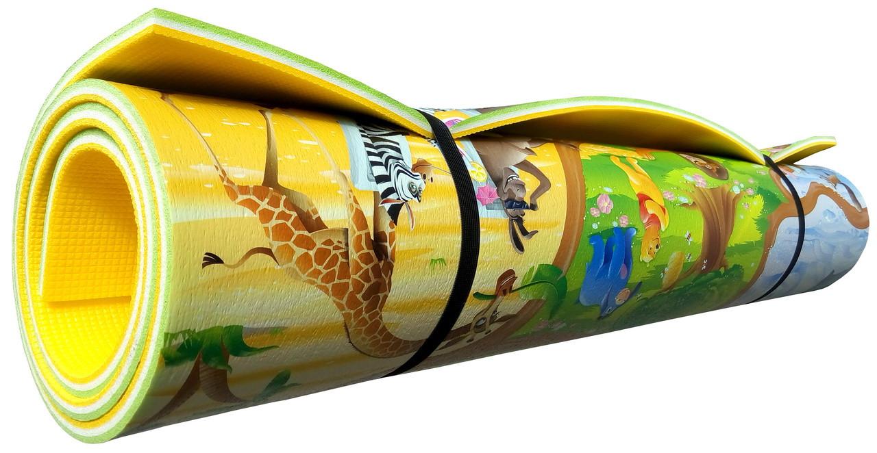"""Игровой коврик для ползания ребенка """"Мадагаскар"""" PREMIUM XL 2000x1200x12мм"""
