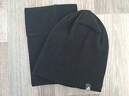 Спортивная шапка + бафф черная Adidas replika