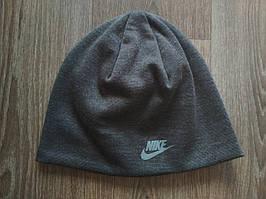 Спортивная шапка  Nike темно-серая replika