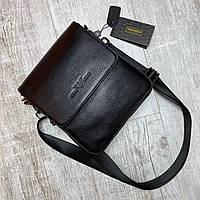 Мужская кожаная сумка через плечо бренда Armani