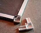 Уголок рамки профиля наружной (накладной) москитной сетки 10 мм х 20 мм белый, фото 2