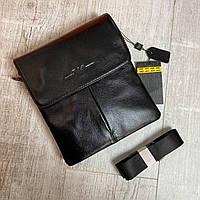 Мужская кожаная сумка через плечо от бренда Armani