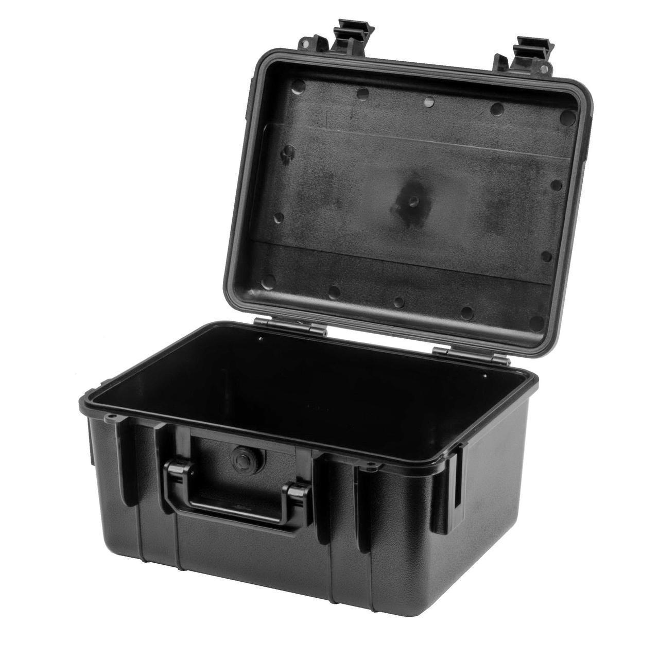 Ящик (Кейс) водонепроникний EPC011 розмір внутрішній 255х185х140 (24,5+114,5)мм, чорний