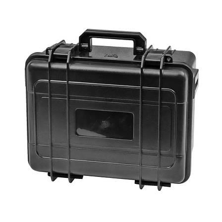 Ящик (Кейс) водонепроникний EPC011 розмір внутрішній 255х185х140 (24,5+114,5)мм, чорний, фото 2