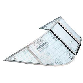 Ветровое стекло Обь 1 (Стандарт П) материал ПОЛИКАРБОНАТ Ob 1 Standard K, фото 2