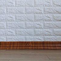 Самоклеящийся гибкий плинтус дерево 240x8 см (толщина 7мм, плинтус самоклейка), фото 1