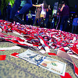 Красная лента, бумага для бумажного шоу., фото 2