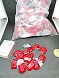 Стразы акриловые пришивные красного цвета. Стекло 18*25мм прямоугольное, фото 3