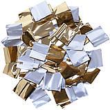 PREMIUM Конфетти, метафан для шоу. Золоте-Серебро 20 на 20мм, фото 4