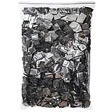 Конфетти серебро ПРЕМИУМ, метафан для серебристого шоу. Серебряное 20 на 20мм, фото 2