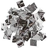 Конфетти серебро ПРЕМИУМ, метафан для серебристого шоу. Серебряное 20 на 20мм, фото 4