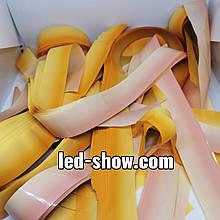 Бумага для бумажного шоу. Градиент оранжево-желтый. Не пылит, не режет, многоразовая.