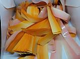 Папір для паперового шоу. Градієнт оранжево-жовтий. Не порошить, не ріже, багаторазова., фото 3
