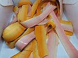 Папір для паперового шоу. Градієнт оранжево-жовтий. Не порошить, не ріже, багаторазова., фото 4