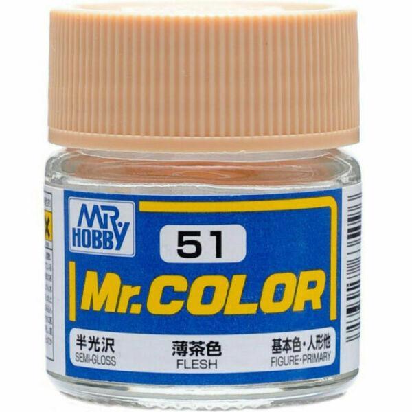 Телесный полуматовый 10 мл. MR. COLOR C51