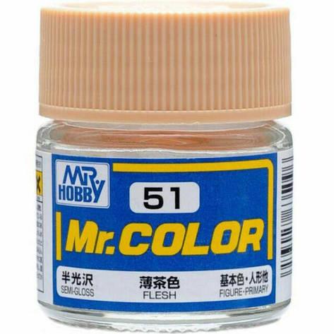Телесный полуматовый 10 мл. MR. COLOR C51, фото 2