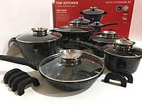 Набор посуды кастрюль с мраморным покрытием Top Kitchen TК20 16 предметов
