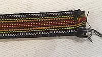 Тканий пояс крайка чорна під вишитий одяг 128*5 см, фото 1
