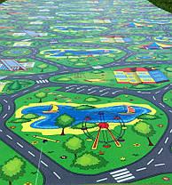 Детский игровой коврик «Городок» XL 1500х1100х8 мм, фото 3