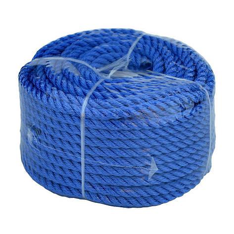 Веревка 30м 10мм синяя, полиэстер, универсальная twisted rope 10х30 b, фото 2