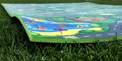 """Розвиваючий килимок для дітей """"Дорога"""" XL 1500х1100х8мм, фото 3"""
