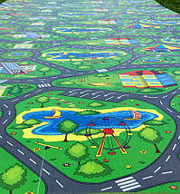 """Развивающий коврик для детей """"Дорога"""" XXL 2000x1100x8мм, фото 2"""