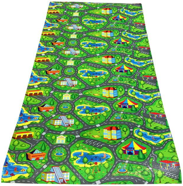 Детский игровой коврик «Городок» XXL 2000х1100х8 мм