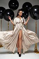 Модное вечернее платье, цвет: бежевый, размер: S, M, L, XL