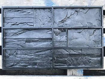 """Форма для декоративного каменю і плитки """"Марсель"""" на 6 плиток, гумова"""