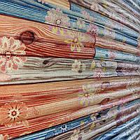 Самоклеящаяся декоративная 3D панель бамбук цветы 700x700x9 мм (самоклейка, Мягкие 3D Панели)