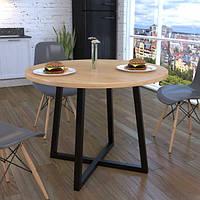 Стол обеденный GoodsMetall в стиле Лофт 800х750мм Энтони