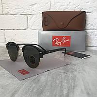Солнцезащитные очки RAY BAN 4246М Clubround черный стекло