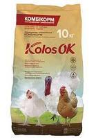 Комбикорм рост для бройлеров, индюшат (19-43 дней) Kolosok 10 кг