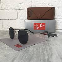 Солнцезащитные очки RAY BAN 3447 ROUND черный в серебре