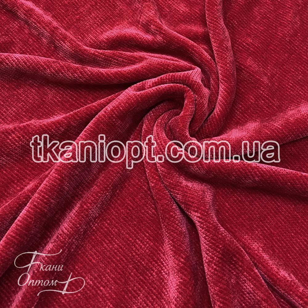 Ткань Вельветовый плюш miu-miu (красный)