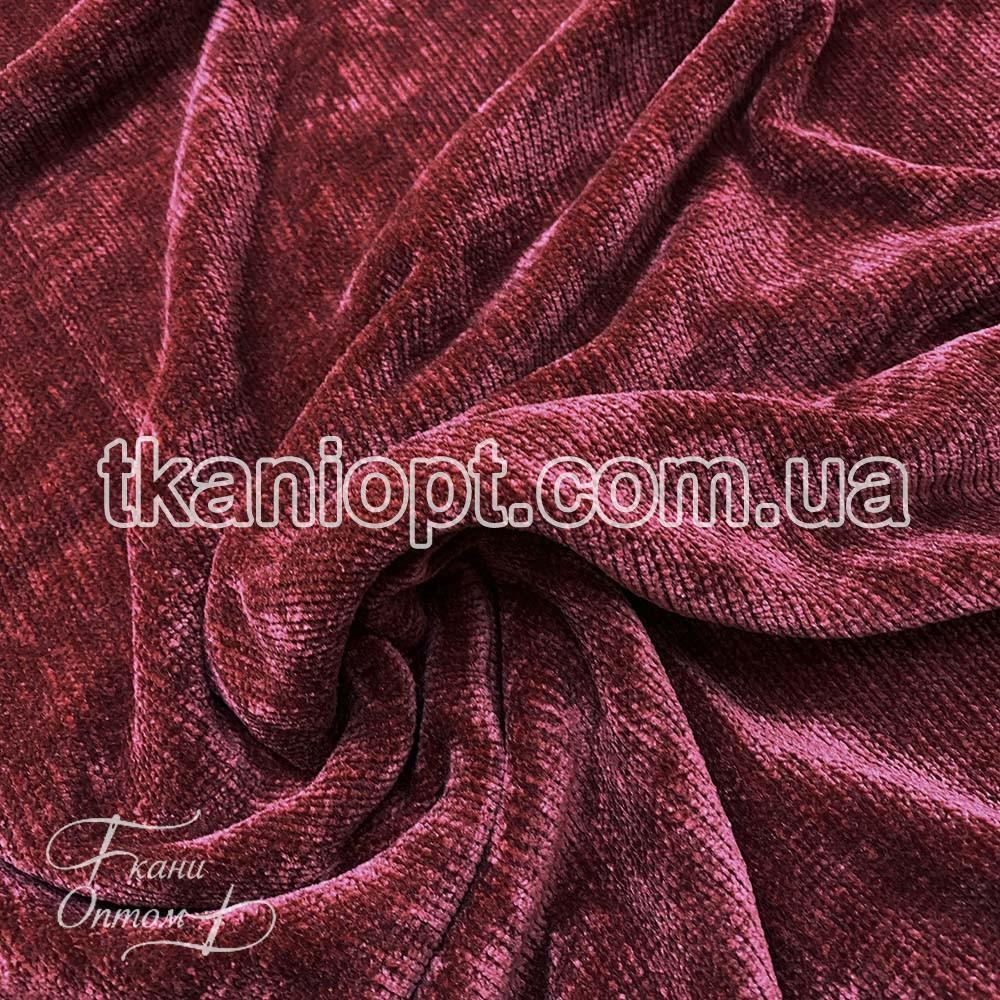 Ткань Вельветовый плюш miu-miu (бордовый)