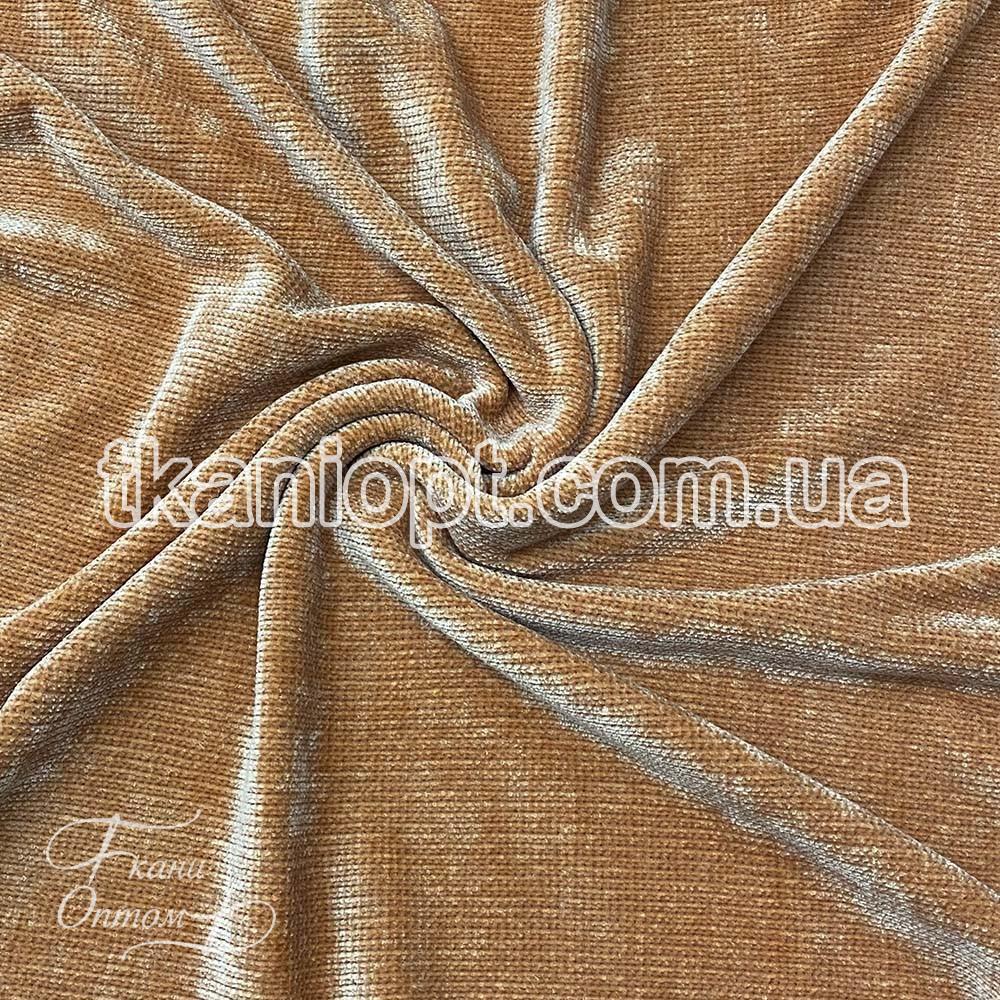 Ткань Вельветовый плюш miu-miu (горчица)