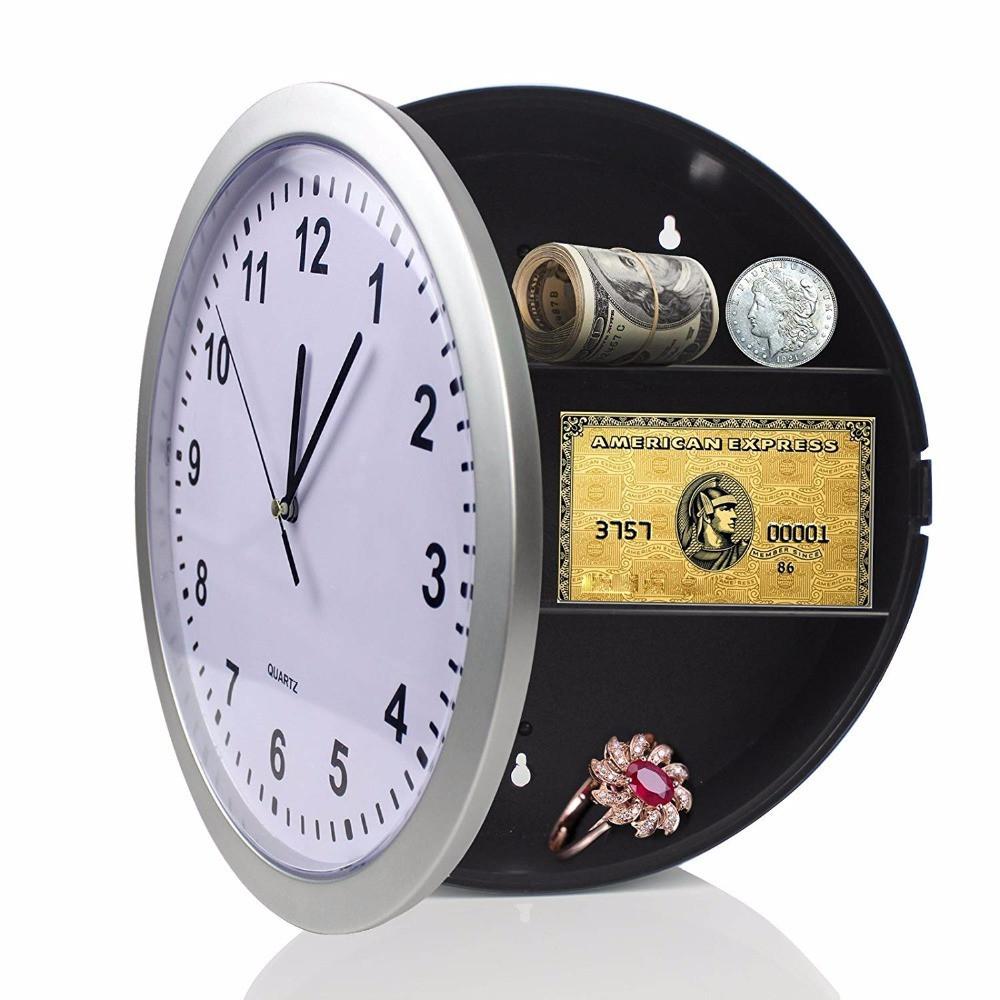 Часы-тайник настенные (металлик, круглые 25 см диаметр) на стену (кухню, зал) настінний годинник